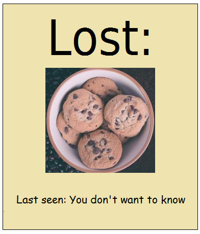 lost cookies